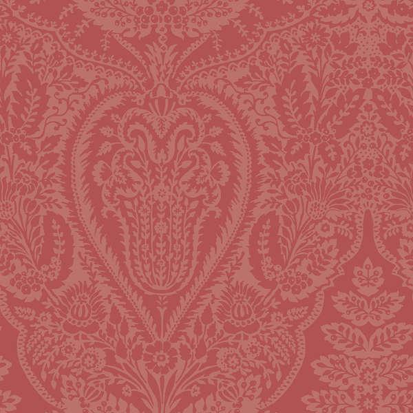 Dover  Flannel - Coral Mono Paisley