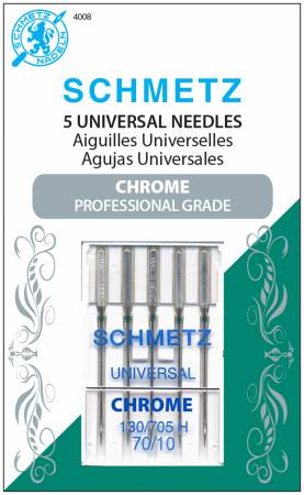 Schmetz Chrome Universal Needle 5 ct, Size 70/10
