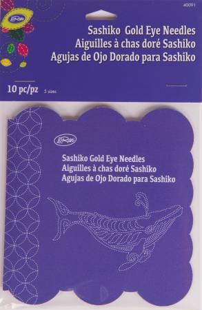 Sashiko Gold Eye Needles