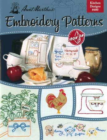Aunt Marthas Iron-on Transfer Pattern Book Kitchen Designs