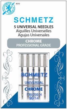 SN-4010S Chrome Universal Schmetz Needle 5 ct, Size 90/14