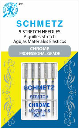 Chrome Stretch Schmetz Needle 5 ct, Size 90/14