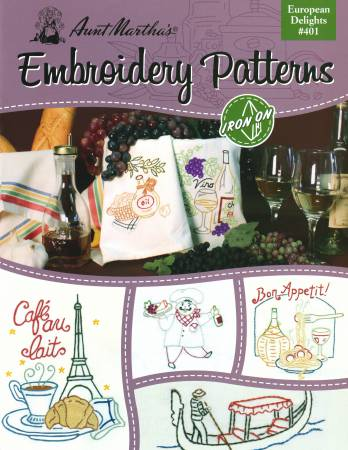 Aunt Marthas Iron-on Transfer Pattern Book European Delights