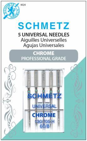 Chrome Universal Schmetz Needle 5 ct, Size 60/8