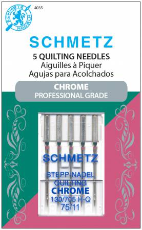 Schmetz Chrome Quilting Needle 5 ct, Size 75/11
