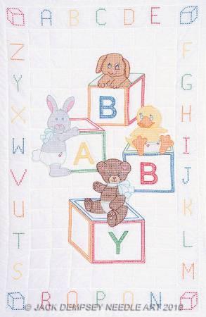 Baby Block Crib Quilt Top
