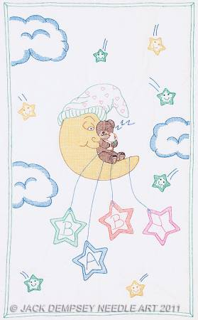 Crib Quilt Top Bear On The Moon