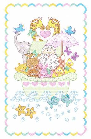 Noah's Ark Crib Quilt Top