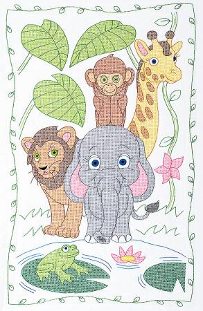 Jungle Crib Quilt Top 40in x 60in