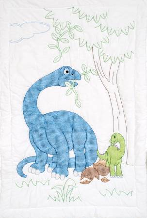 dinosaurs crib quilt top 40in x 60in