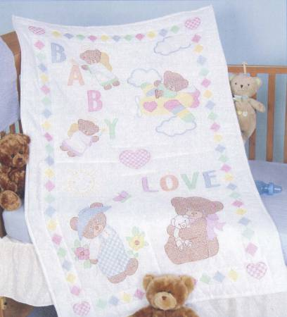 Baby Loves Bears Crib Quilt Top