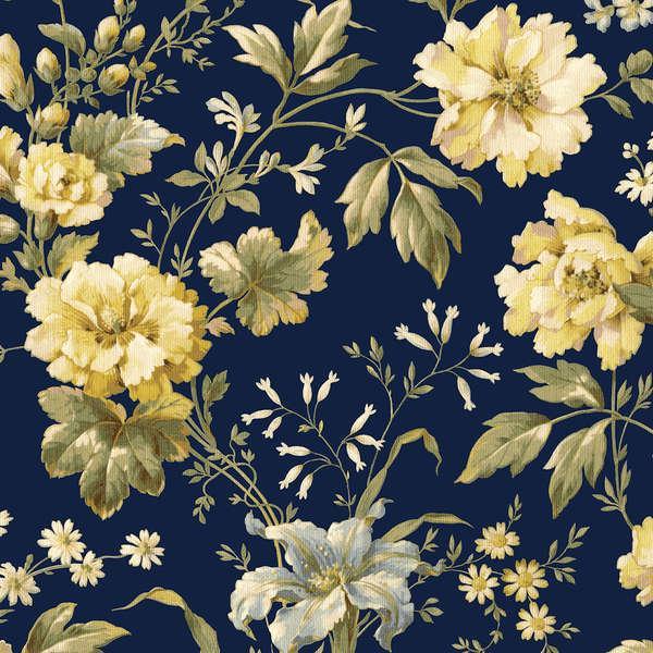 Carolyn Yellow & Blue Floral
