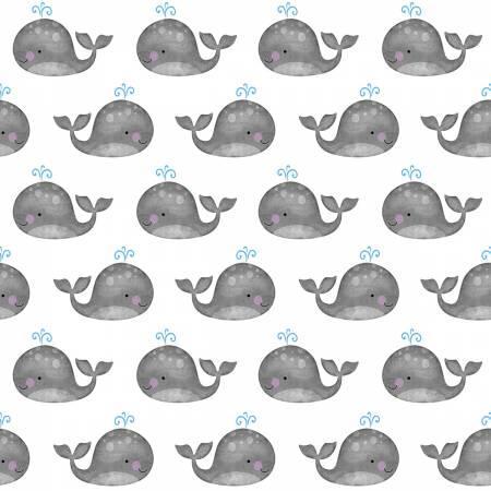 Anchors Away White/Grey Mini Whales 4079-90