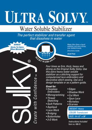 Ultra Solvy Extremely Firm & Stable Water Soluble Stabilizer 20in x 1yd