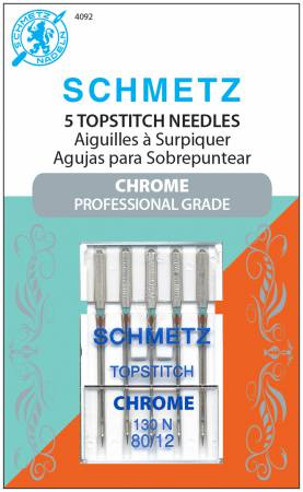 Chrome Topstitch Schmetz Needle 5 ct, Size 80/12