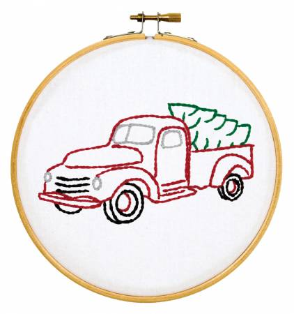 4096-879 Christmas Truck 6 Hoop Kit