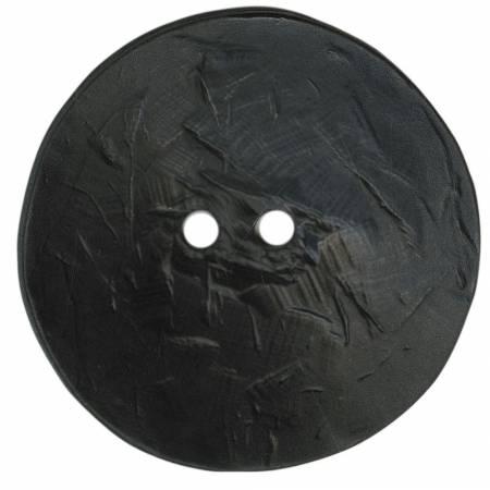 Round Polyamide Black Button 2 3/8in