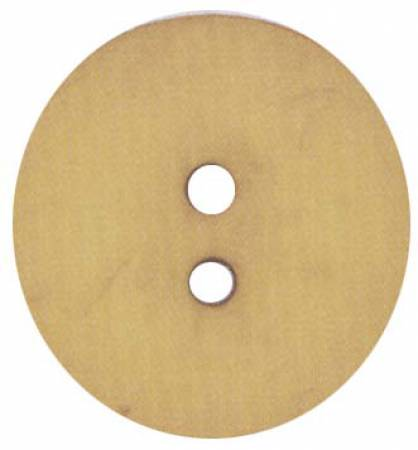 Round Polyamide Dark Yellow Button 2 3/8in