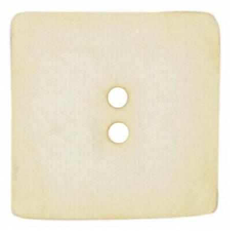 Square Polyamide Beige Button2 3/8in