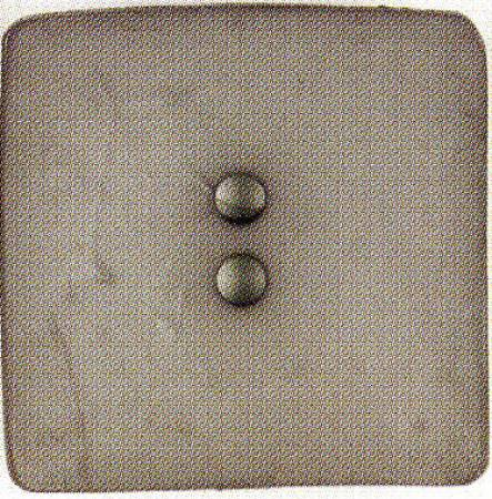 Square 2-Hole Polyamide Pewter 2-3/8in