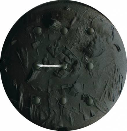 Monogram Round 60mm Button - Black
