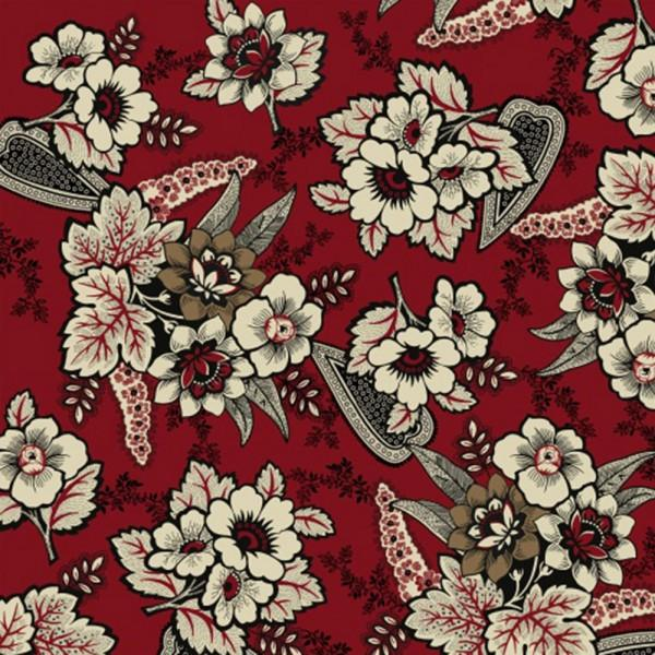Carmen -Red Floral Paisley