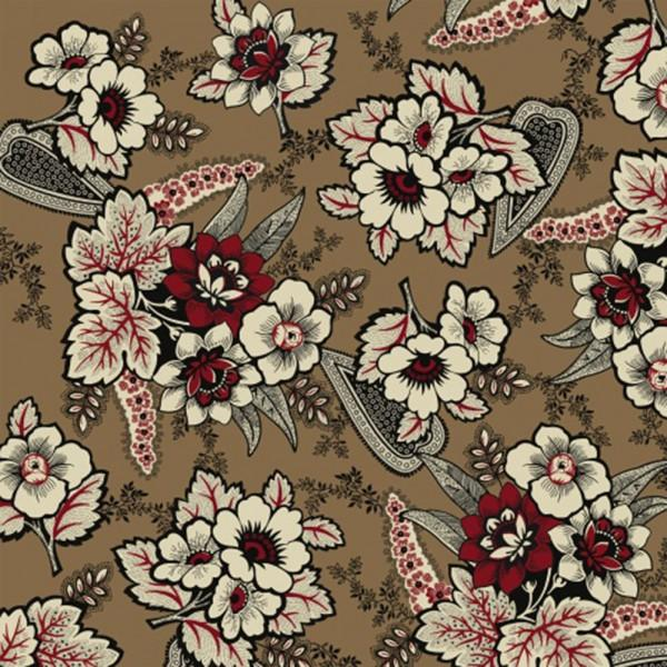Cocoa Floral Paisley