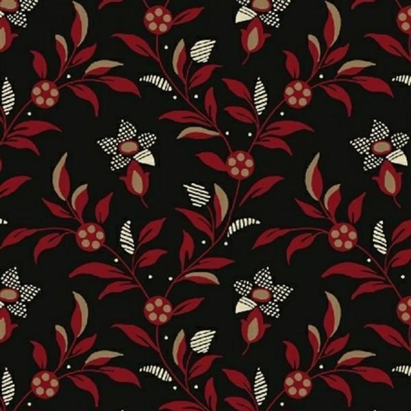 Carmen - Black Medium Floral Vine