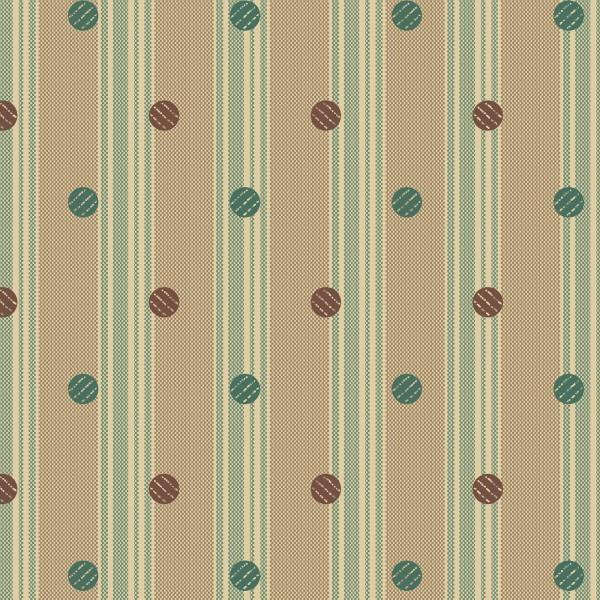 Taupe and Green Dot Stripe:  Coryn by Lisa DeBee Schiller for Windham