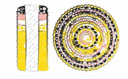 *2-1/2in Strips Bee Youtiful 40pcs/bundle