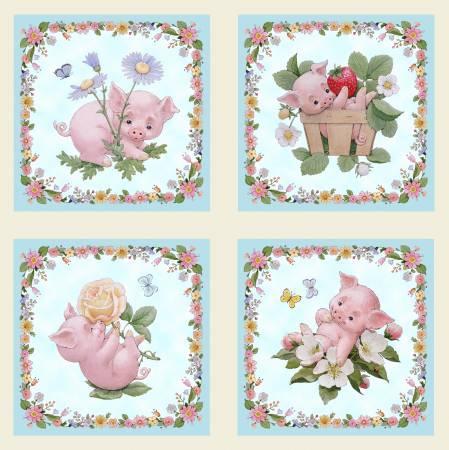 This Little Pig Panel - Cream - 4120