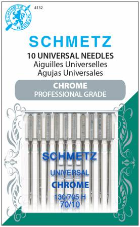 Chrome Universal Schmetz Needle 10 ct, Size 70/10