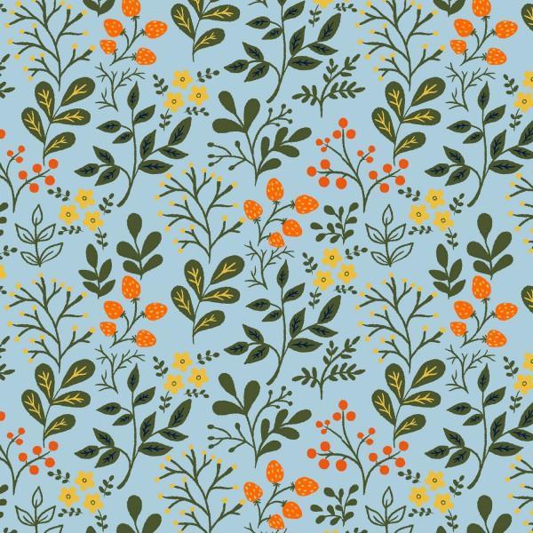 Sky Blue Berries & Flowers 41339-5