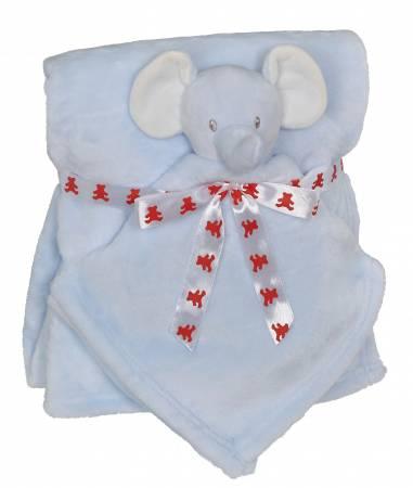 Elephant Blankey Buddy Set Blue