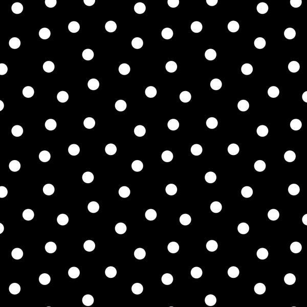Black Ditsy Dot