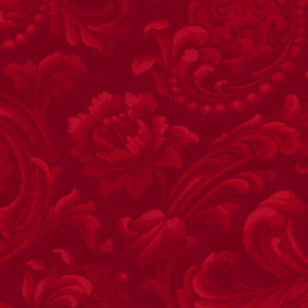 Wine Floral Brocade