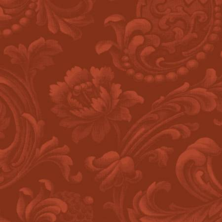 Russet Floral Brocade