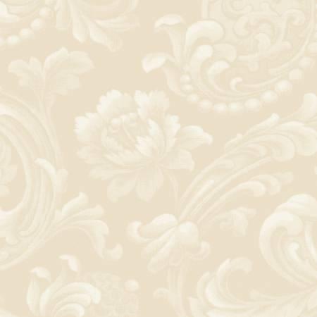Cream Floral Brocade