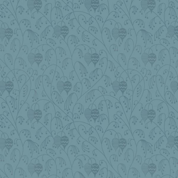 Dusty Blue Print Lantern Flower