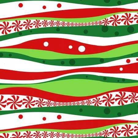Red/Green Wavy Stripe