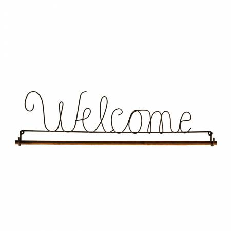 N- 22in Welcome Fabric Holder