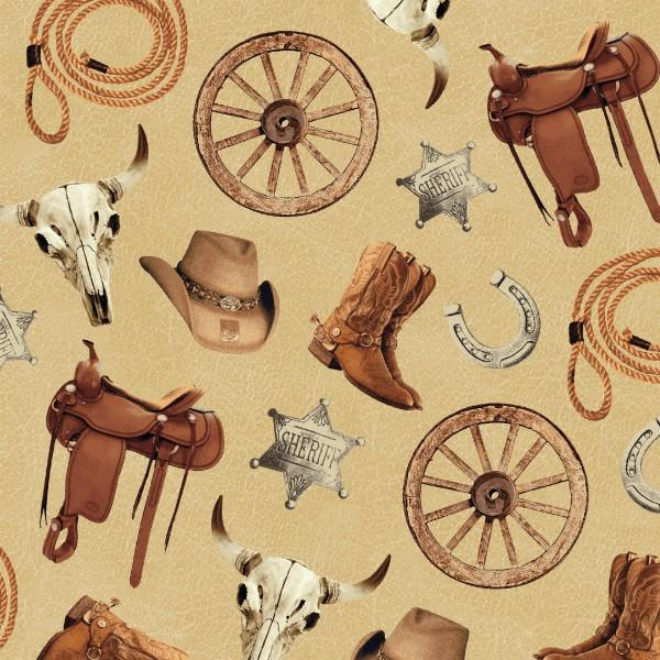 Windham Fabrics Cattle Drive - Accessories - Straw