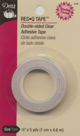 Double - Sided Clearhesive - Res-Q-Tape 3/8in x 5yds