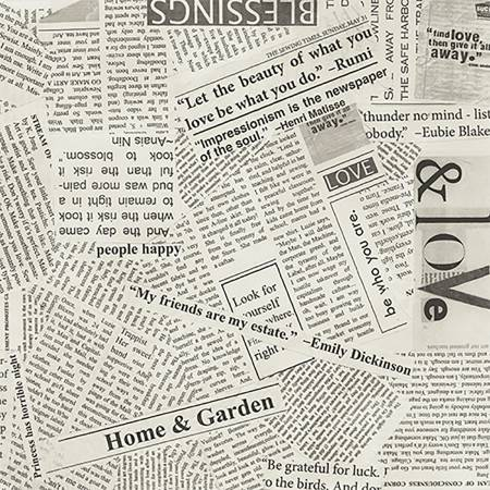 Spackle News Paper Clipping 108in Wide Back