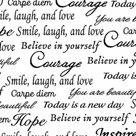 108 wide - White Inspiration Words