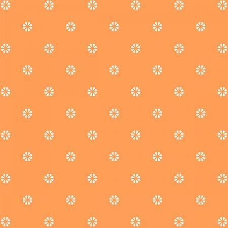 First Blush Orange Daisy Dot