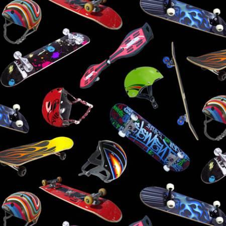 Black Skateboarding