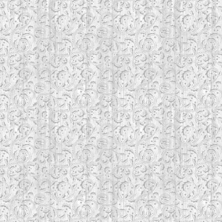 Festive Chickadees Grey Washed Scroll