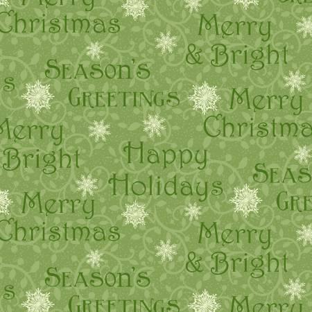 Winter Greetings - Green Words