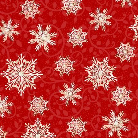Winter Greetings - Red Snowflakes